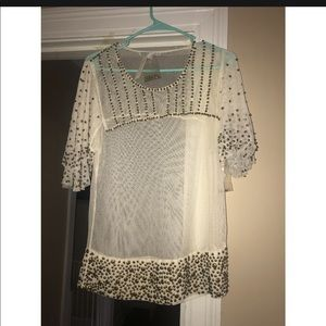 Beaded Anthropologie Top